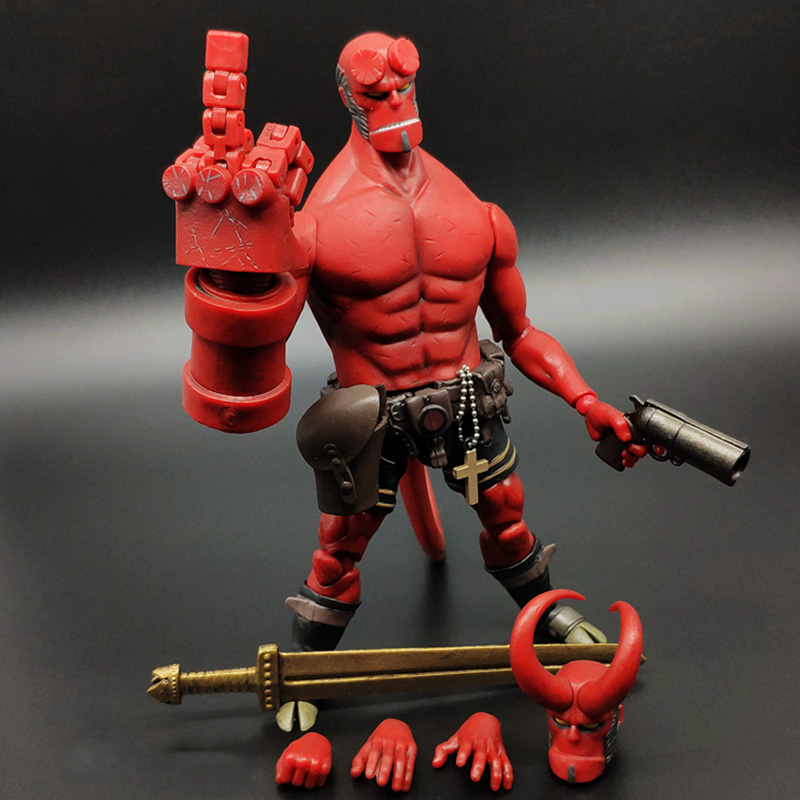 MEZCO Hellboy 3 Series Includes Samaritan Handgun Anung Un Rama Mike Mignola Baby Variant Comic Movie Toys Doll for kids gift image