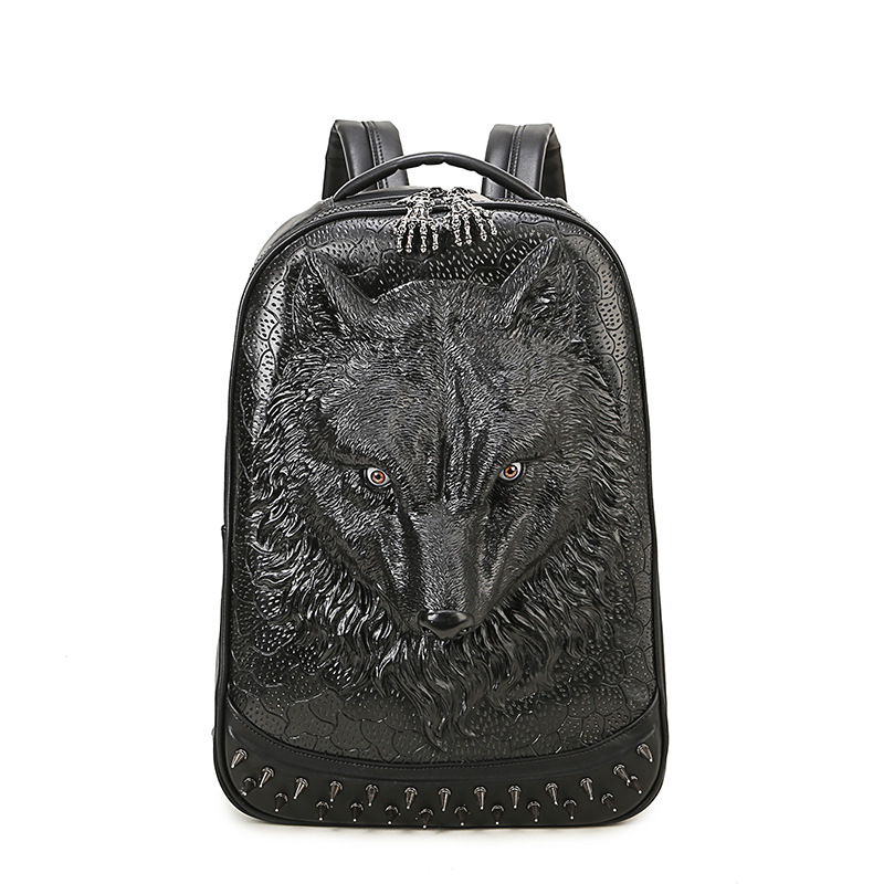 3D Animal PU Leather Backpacks Vintage Rock Women Men Backpack Rivet Computer Bags Good Quality Fashion Travel Bags 2017 Hot new kids fashion women famous brand school backpacks small backpack vintage casual rivet pu leather travel bags high quality