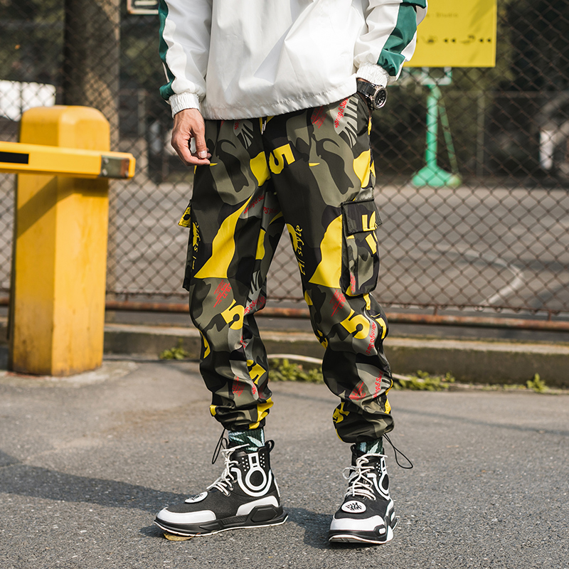 Image 3 - 2019 New Men Camouflage Cargo Pants Men Street Harem Pants Fitness Runners Trousers Comfortable Ankle Length Sweatpants LBZ44-in Harem Pants from Men's Clothing