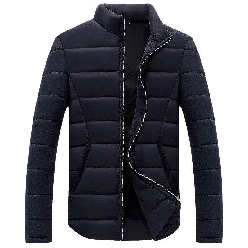 2018 Neue Mode Herbst Winter Jacke Männer Feste Beiläufige Slim Fit Herren Winter Jacke Mantel