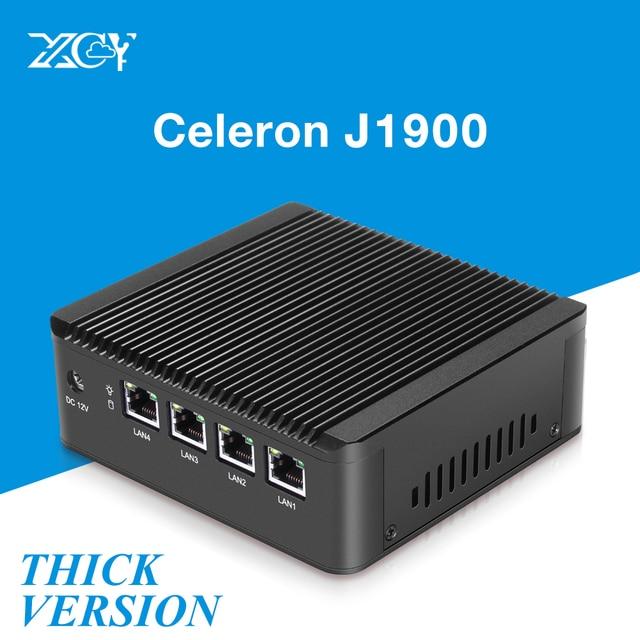 X29 Fanless 4 LAN Gigabit Ethernet Mini PC Celeron J1900 Quad Core Intel NIC Firewall Router Thin Client Nettop Windows Pfsense