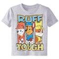 2016 del estilo del verano de los muchachos camisetas dog patrulla de la camiseta de dibujos animados manga corta camiseta embroma la ropa chicos de marca