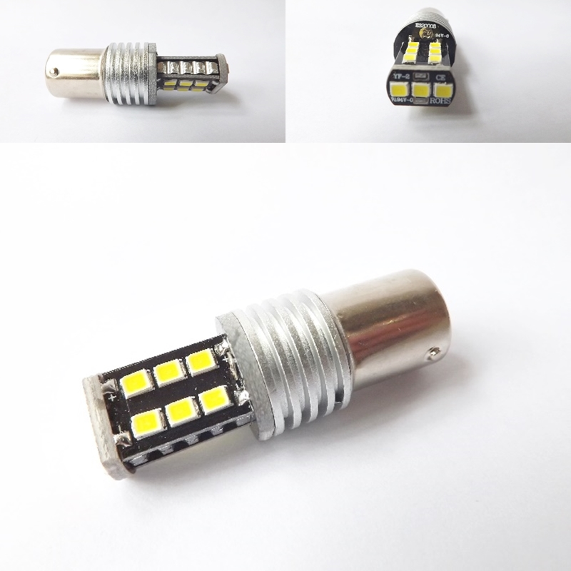 2x H6 LED CANBUS 3535Chip 15SMD High Power Bulb Motor Light Lamp Car Bike/Moped/Scooter/ATV Headlight 800lm Bright White new arrival canbus p6 car led head lamp conversion kit bulb 4500lm 2 9000lm led headlight super bright 45w 2 90w car styling