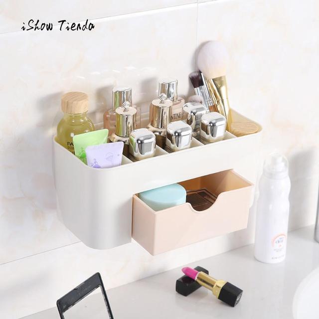 Merveilleux Cosmetic Makeup Storage Box Wall Mount Cosmetic Case Beauty Artist Box  Storage Tool Bathroom Makeup