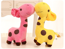 5PCS/LOT Hot 18CM Kawaii Small  giraffe Plush Toys Stuffed Animals Fluffy Dolls Soft Kids