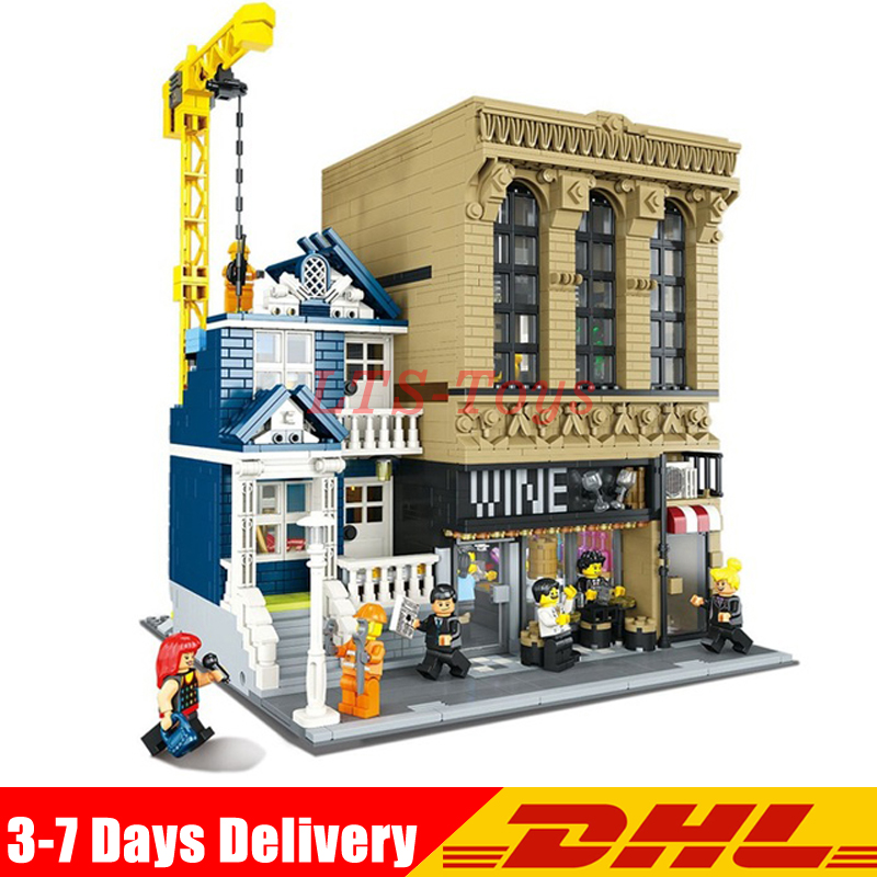 IN Stock DHL Lepin 15035 2841Pcs Genuine Creative The Bars and Financial Companies Set LegoINGs Building Blocks Bricks Toys in stock lepin 15035 2841pcs creative moc the bars and financial companies set children educational building blocks bricks toys