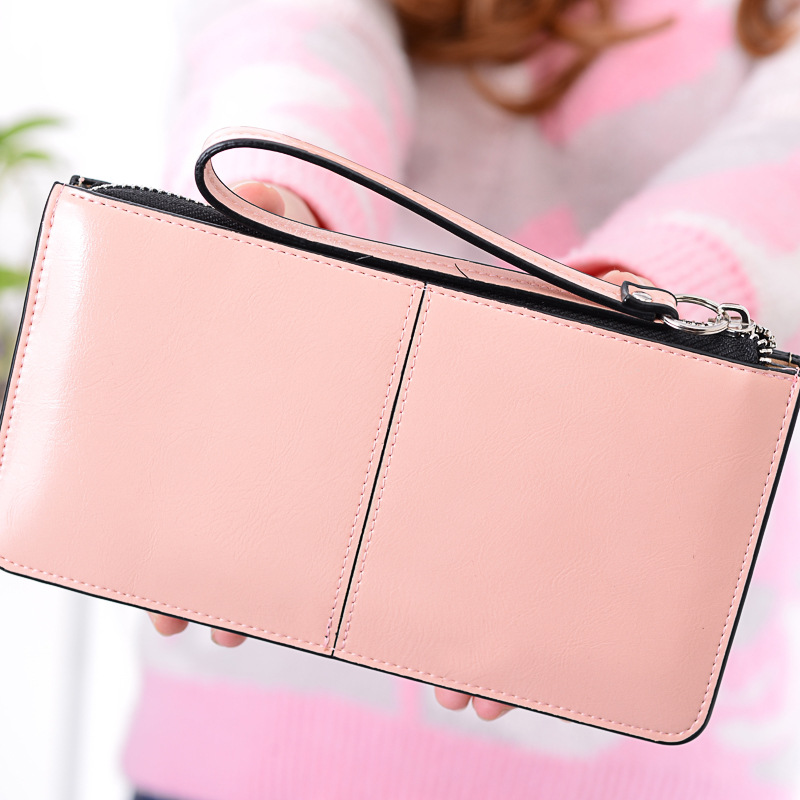 2017 Women Wallet Famous Brand Oil Wax PU Leather Zipper Clutch Wallet Female Candy Color Fashion Coin Purse Lady Multi-function мясорубка kitfort кт 2101 1
