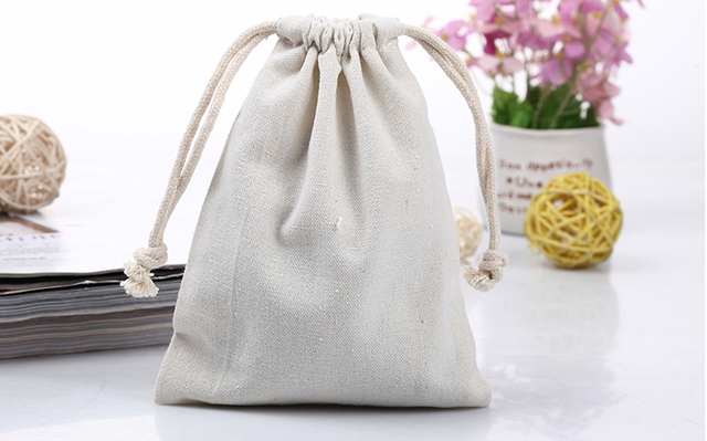 High Quality Cotton Canvas Customized Small Drawstring Bag Jewelry Whole Custom Gift For