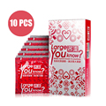 Davidsource 55mm maiores preservativos lisos 10 peças/lote tamanho grande galo pênis contracepção preservativo para o gigante produtos frete grátis
