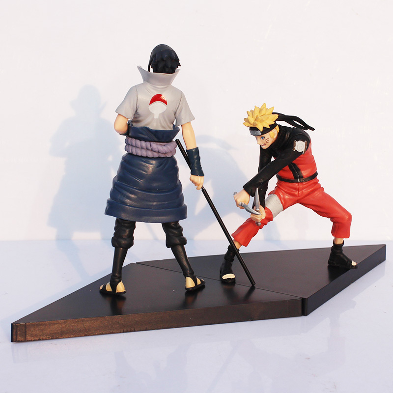 Naruto Figures Uzumaki Naruto Uchiha Sasuke PVC Action Figure Toy Cartoon Anime Action Figure 13cm~14cm 2pcs/lot