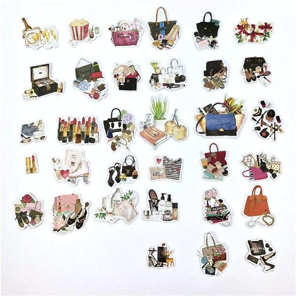 1 пакет, милые Мультяшные декоративные наклейки в Корейском стиле, клейкие наклейки, скрапбукинг, сделай сам, декоративные наклейки для дневника - Цвет: 15