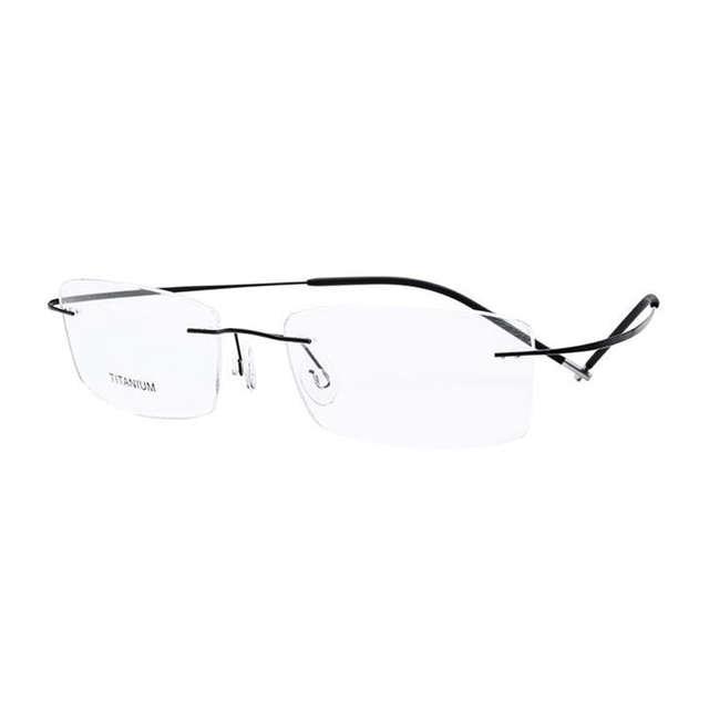 2860ab0315 US $17.98 55% di SCONTO|Super Leggeri e Flessibili Senza Orlo di Titanio  Degli Occhiali per le Donne e Gli Uomini Eyewear Ottico Occhiali Da Vista  in ...
