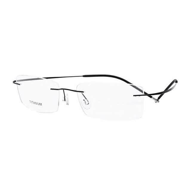 f56c0f7a5bd Online Shop Super Light and Flexible Rimless Titanium Eyeglasses ...