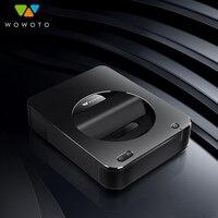 WOWOTO проектор Электрический фокус 4 к Разрешение Wi Fi Bluetooth 600 ANSI светодиодный портативный HD для домашнего кинотеатра оконная система S6W