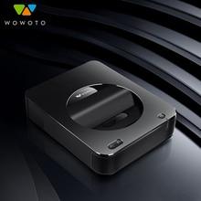 WOWOTO Projector Electric focu Resolution Wi Fi Bluetooth 600ANSI LED Portable HD for Home Cinema Window