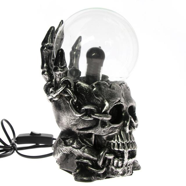 10CM SKULL PLASMA SPHERE NEBULA BALL LAMP