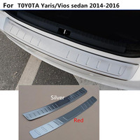 Car Styling External Rear Bumper Protect Trunk Trim Cover Stainless Steel Plate Pedal For Toyota Vios