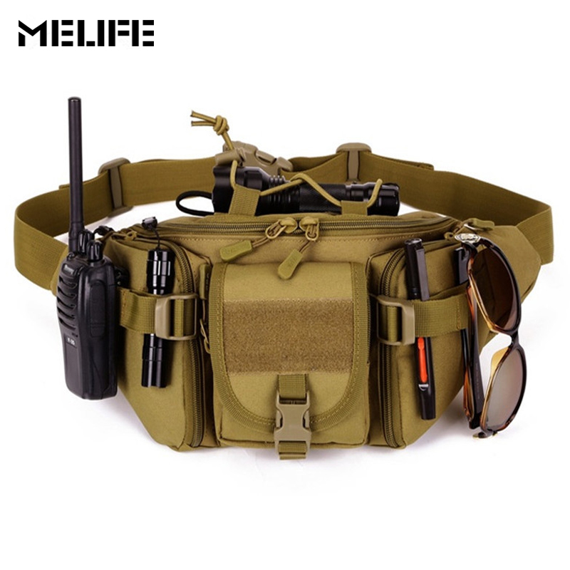 MELIFE Tactical Waist Bag Waterproof Waist Fanny Pack Molle Hunting Sports Hiking Fishing Camping Sport Bags Belt Pouch sfg house tactical molle bag waterproof waist belt bag hiking fishing hunting waist bags camping waist pack