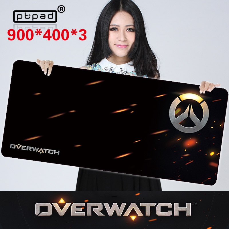 pbpad Store Large overwatch mouse pad Gaming Mouse Pad speed Locking Edge Keyboard Mat Table Mat