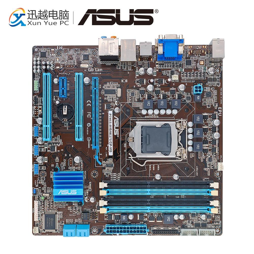 Asus P7H55-M/BM5275/DP-MB Desktop Motherboard P7H55-M DP H55 Socket LGA 1156 i3 i5 i7 DDR3 16G SATA3 uATX недорго, оригинальная цена