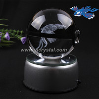 New Style Rayquaza Pokemon Ball With Free Shipping Good Quality With Engraving Crystal Ball With Led