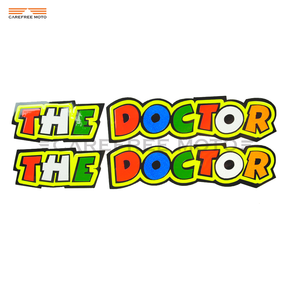 2 PCS Motorcycle Sticker Rossi 46 THE DOCTOR Motocoss Helmet Reflective Stickers Decal Case for Yamaha