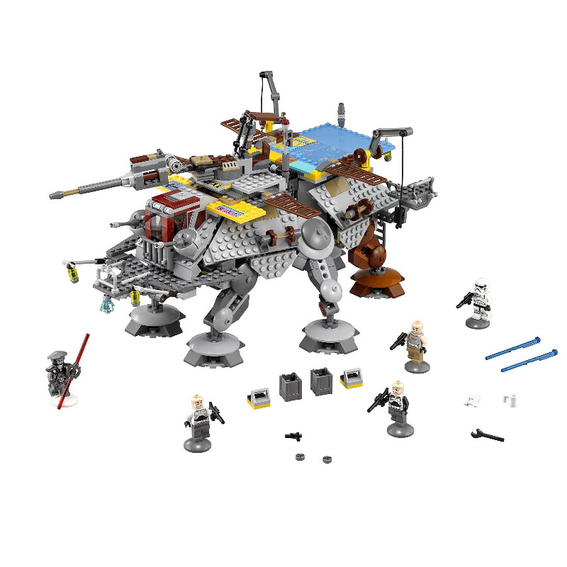 Lepin 05032 1022Pcs Star Wars series  Rex General AT-TE walking armor Model Building Blocks Set  Bricks Toys For Children  Gift lepin 05032 star wars rex s at te model building kits compatible with lego city 3d blocks educational toys hobbies for children