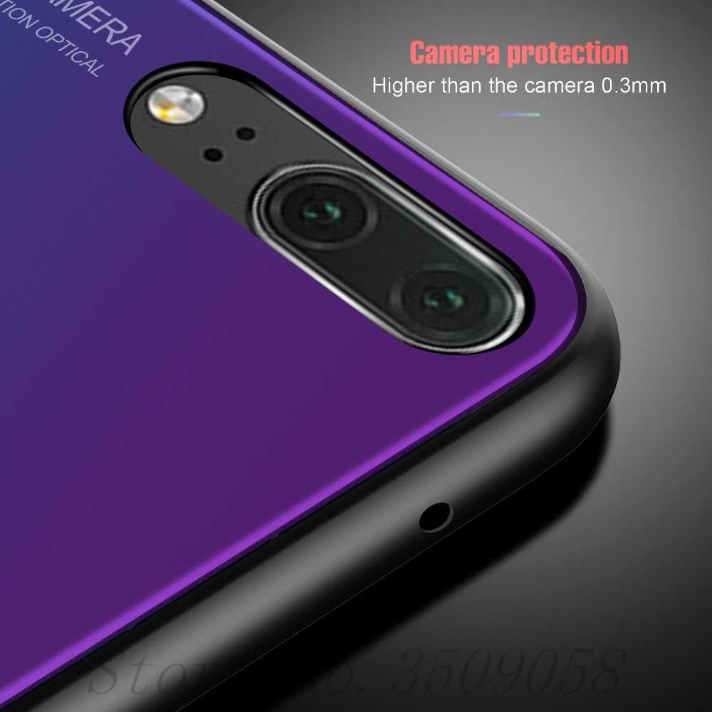 Ksio mi caso para xiaomi redmi nota 4x4x5 a 5a 6 pro plus capa a5 escudo xio mi xia mi x4 coque gradiente vidro temperado telefone