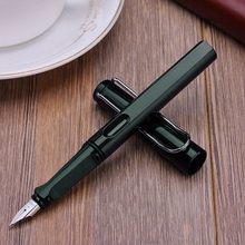 Palladium Trim Green Fountain Pen Fine Nib Smooth Writing Ink for Christmas Gift(China)