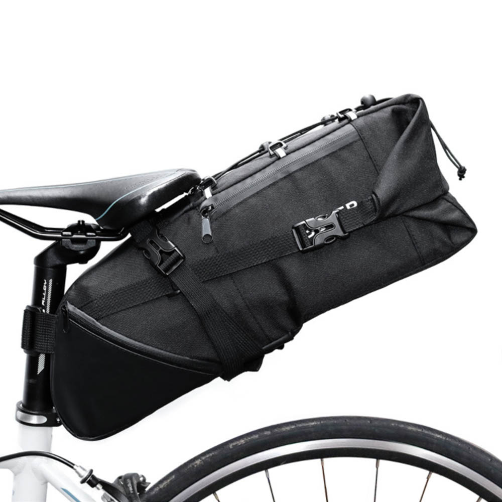 Bicycle Seatpost Bag Bike Saddle Seat Storage Pannier Cycling MTB Road Rear Pack Water tight Extendable 3L 10L topeak dynawedge bike seatpost bag strap mount saddle bicycle rear bag ultralight bike repair tools pannier bag tc2293b