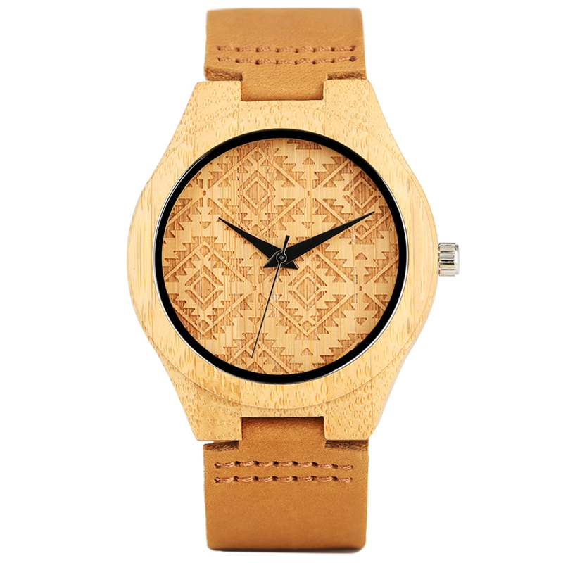 Wooden Watches Quartz Watch Men Creative Vintage Bamboo Wood Casual Clock Male Female New Luxury Genuine Leather Reloj de madera fashion top gift item wood watches men s analog simple bmaboo hand made wrist watch male sports quartz watch reloj de madera