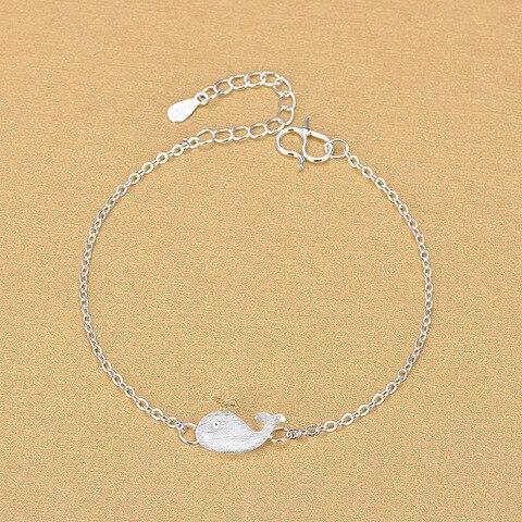 925 стерлинговый Серебряный Морской браслет с животными милый