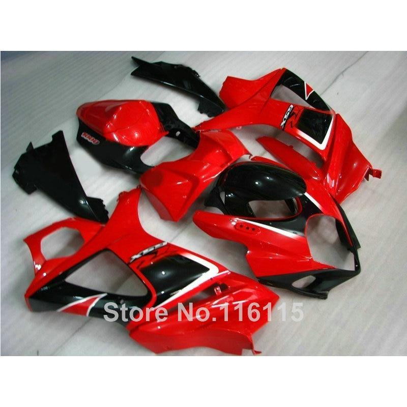ABS full fairing kit fit for SUZUKI GSX-R 1000 2007 2008 K7 K8 red black fairings set 07 08 GSXR1000 JS83