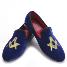 Exquisite embroidery pattern Velvet Men shoes Men Wedding and Party Loafers Men Flats Size US 5-14 Free shipping