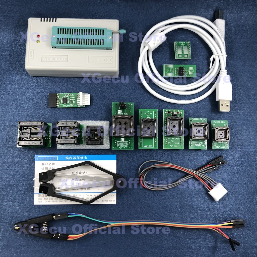 V8 51 XGecu TL866II Plus USB Universal Programmer support 15000 IC SPI Flash NAND EEPROM MCU