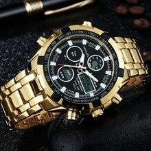 Amuda Mens Sport Montre Led Or Big Face Quartz-Montre Hommes Montre Étanche Mâle Montres Horloge relogio masculino