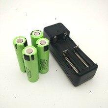 4 pcs Original NCR18650PF 18650 3.6V 2900mAh Rechargeable Battery Li-ion flight battery 10A Discahrge+1PCS Charger