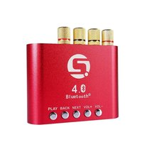 Mini 50 W + 50 W Stereo Hi-fi Bluetooth AMPLIFICATORE di Potenza Amplificatore Audio Headphone (Red)