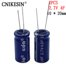 CNIKESIN 2PCS 2.7V 4F SuperCapacitor Vehicle traveling data recorder is special capacitance  4F 2.7V 10 x 20mm farah capacitor