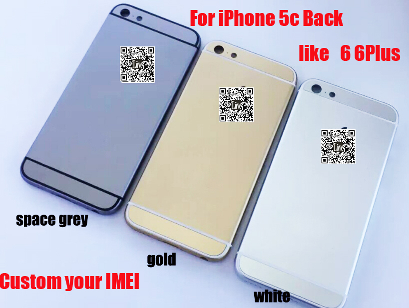 customize your imei for iphone 5c replacement back chassis