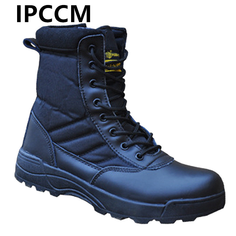 Winter Autumn Men Military Boots Special Force Tactical Desert Combat Ankle Boats Army Hiking Shoes Quality Leather Snow Boots цена