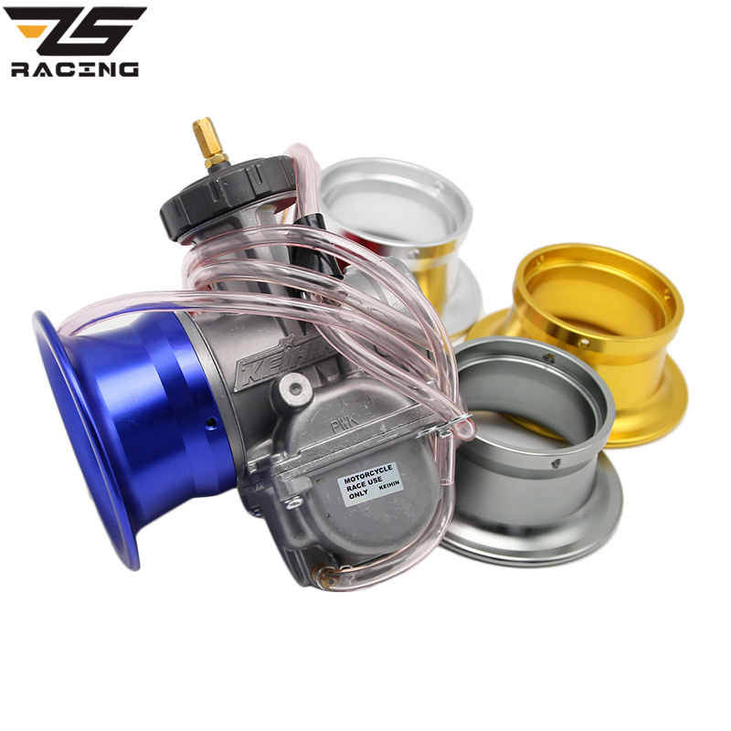 ZS Racing 63mm KEIHIN PWK34 36 38 40 42mm Competitive Moto Modified Carburetor Air Filter Cup The Wind Cup Color Horn Cup