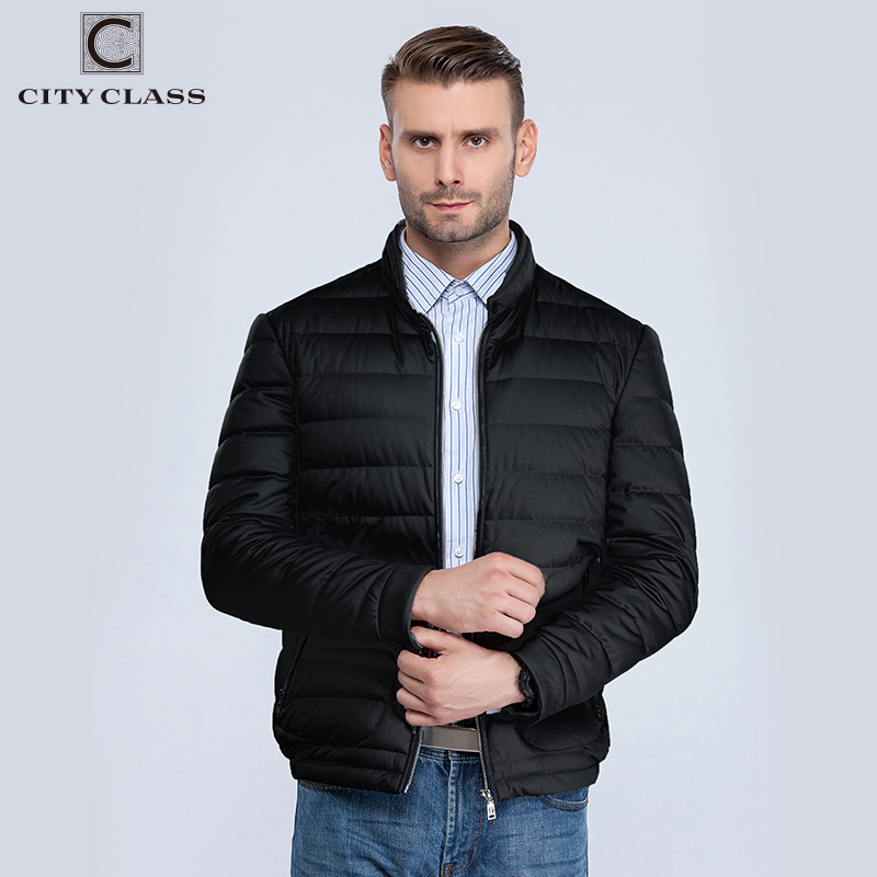City Class 2018 Man Winter Autumn Jacket 90% White Duck Down Jackets Mens Ultra Light Downjackets Warm Outwear Coat Parkas 15681