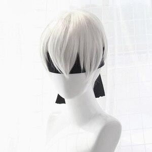Image 5 - คุณภาพสูง Yorha No.2 Type B 2BYoRH 2A 9S 2B วิกผมคอสเพลย์ Nier: automata เล่นเครื่องแต่งกาย Wigs เครื่องแต่งกายผม + วิกหมวก
