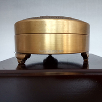 Chinese Antique Bronze Brass Incense Burner Copper Censer Home Decoration Beautiful Crafts Yellow Flower Cover