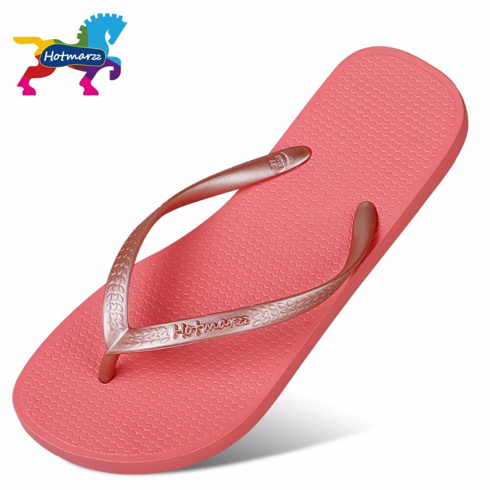 Image 2 - Hotmarzz Women Red Flip Flops Sandals Slim Slippers Summer Beach Shoes Rubber Designer Brand Slides House Shower Slippersshower slippersslimming slippersslippers summer -