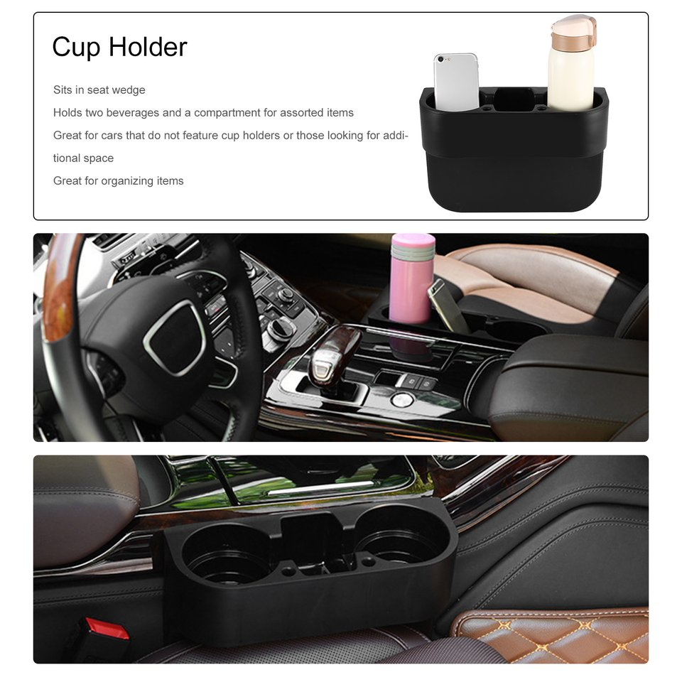 Universal Auto Truck Car Seat Drink Holder Rubbish Case Bin Valet Beverage Can Bottle Food Mount Stand Storage Box