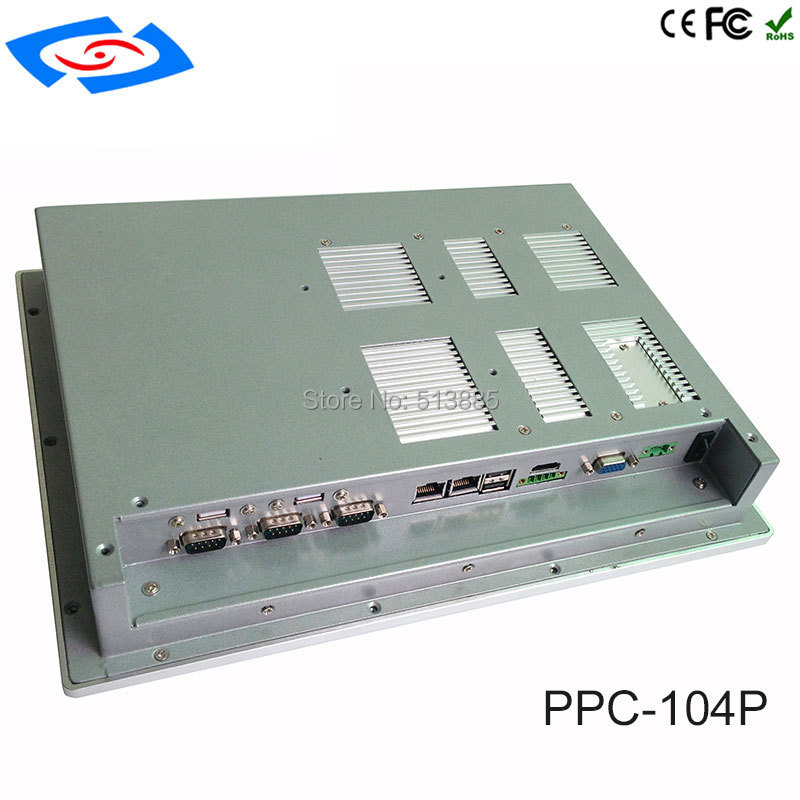 High Quality 10.4 inch Embedded Mini Fanless Industrial Panel PC With XP/Win7/Linux/Win8/Win10 System Application Commercial