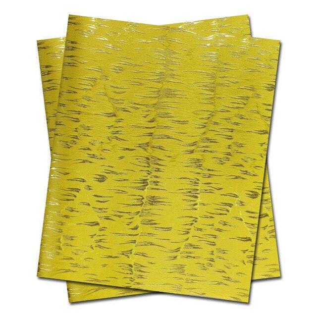 African Sego headtie,Head Gear,Sego Gele & Ipele,HeadTie & Wrapper, 2pcs/bag.LS13 Yellow Color