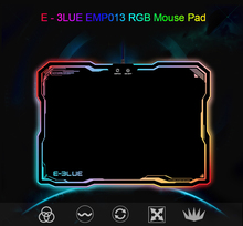 E – 3LUE EMP013 Pro Gaming Mouse Pad Gamer with 10 Models RGB Lighting Light Rubber Mice Mousepad